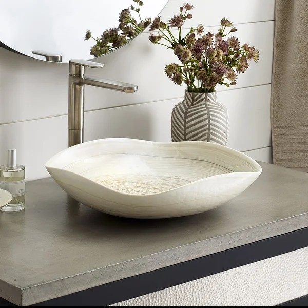 vessel sink cutout with single faucet