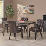 Shop Black Friday Deals On Hayden Contemporary Tufted Bonded Leather Dining Chairs Set Of 4 By Christopher Knight Home Overstock 31294606
