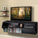 Costway 48 5 Wall Mounted Audio Video Tv Stands Console Living Room Furniture W Shelves Overstock 20590697