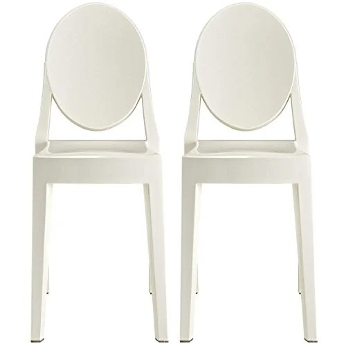 white plastic dining chairs wooden study table and chair shop 2xhome set of 2 standard size modern free shipping today overstock com 18519434