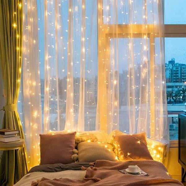 300 led window curtain string lights