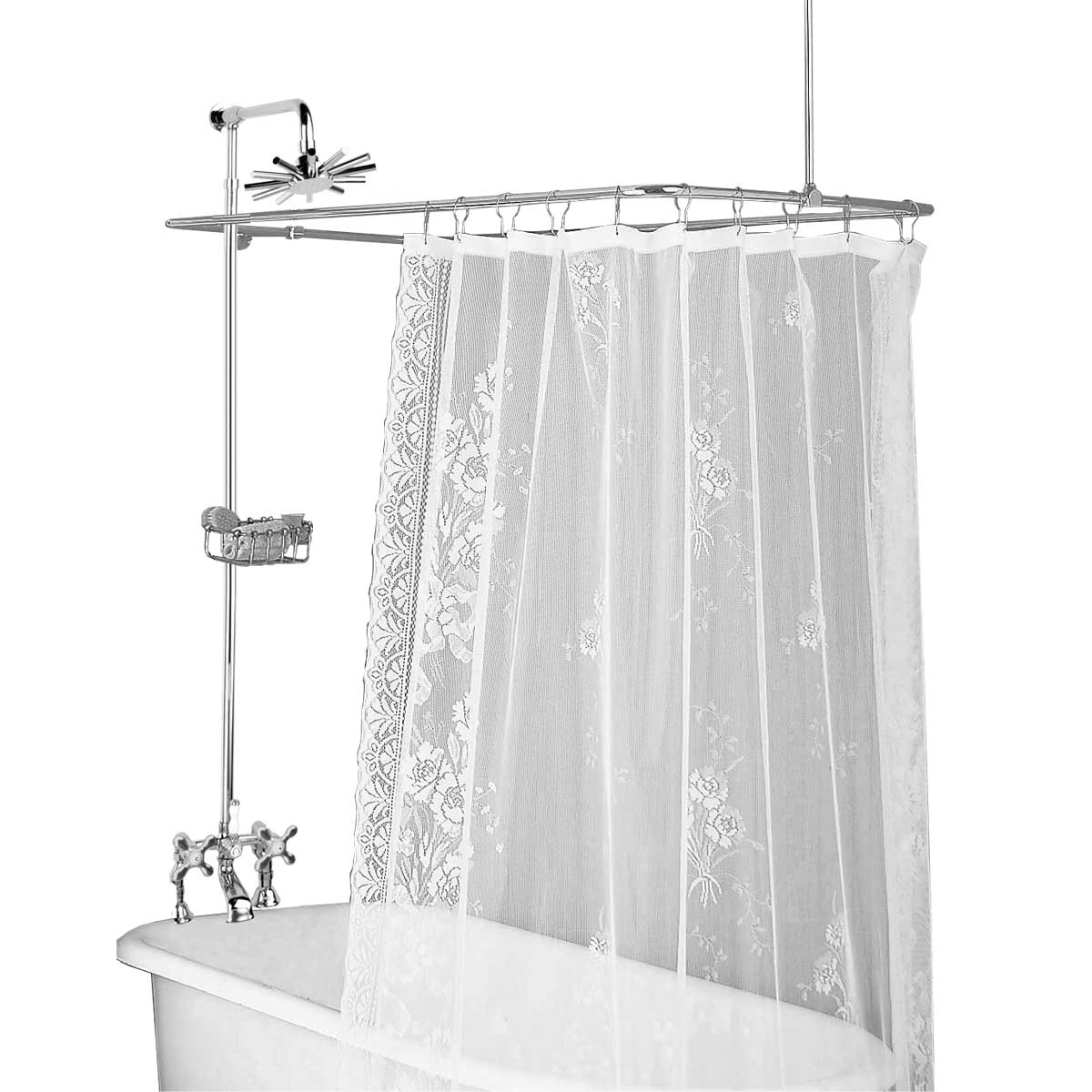 Clawfoot Tub Deck Mount Shower Set Rectangular Enclosure Renovator S Supply
