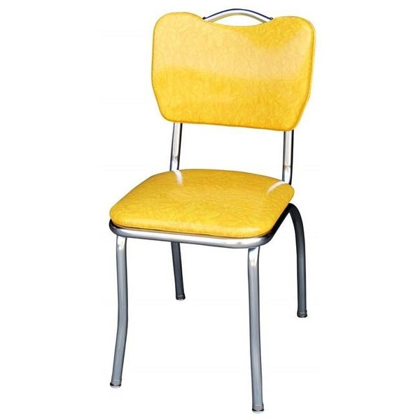 chair design with handle dining room upholstery shop 4161 back diner cracked ice yellow 1 in pulle free shipping today overstock com 24790153