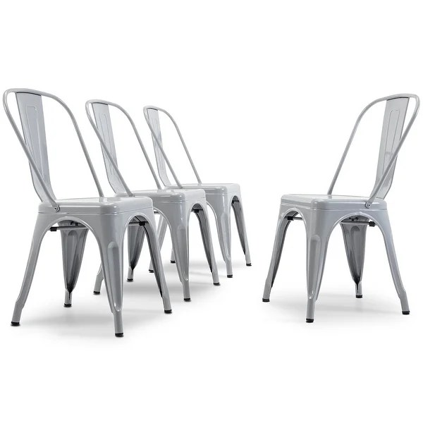 industrial bistro chairs chair lifts for home shop belleze set of 4 style w backrest kitchen cafe