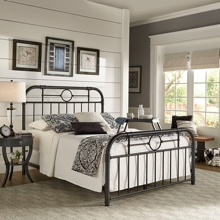 Shop Kendal Black Metal Bed By Inspire Q Classic On Sale Overstock 28977792