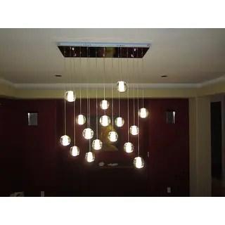 Shop Orion 16 Light Glass Globe Bubble Rectangular Pendant