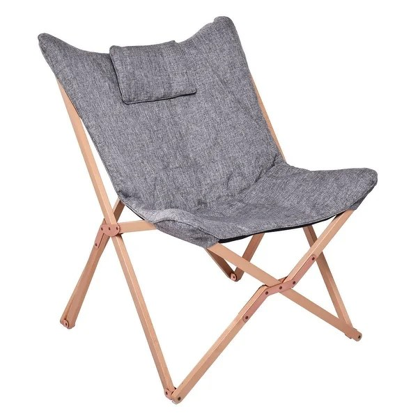 Shop Costway Folding Butterfly Chair Seat Wood Frame Home