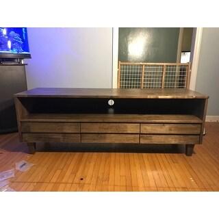 carson carrington venetian 3 drawer brown grey entertainment center