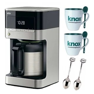 braun kitchen appliances tile for countertops find great dining deals brewsense 10 cup drip coffee maker with thermal carafe black and accessory kit