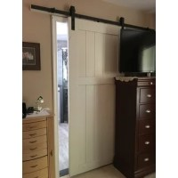 Shop Dogberry Country Vintage 36 x 82 inch Barn Door with ...