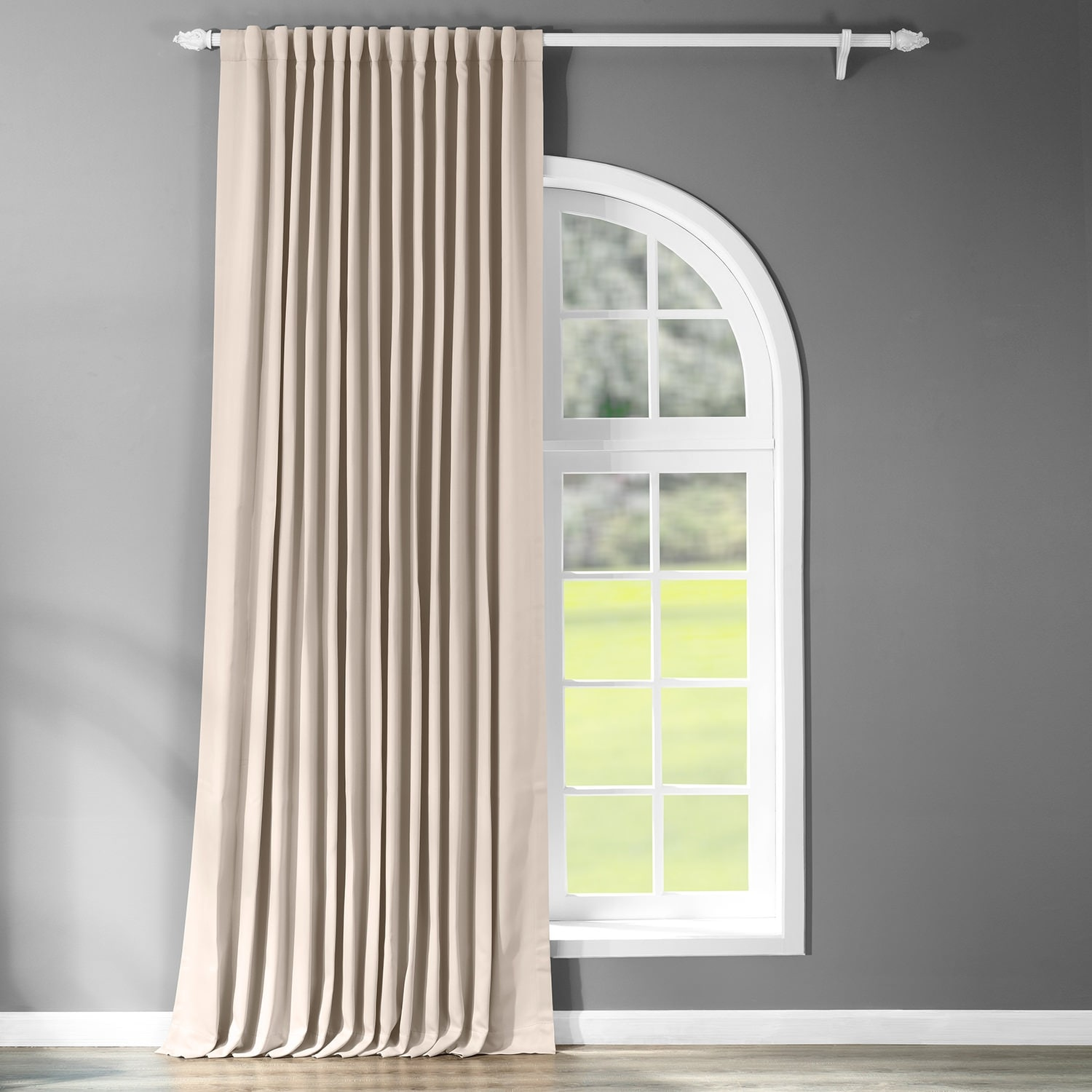 exclusive fabrics extra wide thermal blackout 108 inch curtain panel 100 x 108