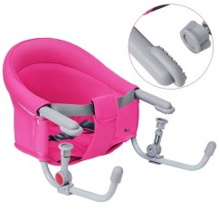 Portable Baby High Chair Hook On Circle Bungee Target Shop Gymax Folding Clip Booster Fast Table Seat Pink