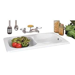 porcelain kitchen sink diy islands buy sinks online at overstock com our best drop in counter italian double basin renovator s supply