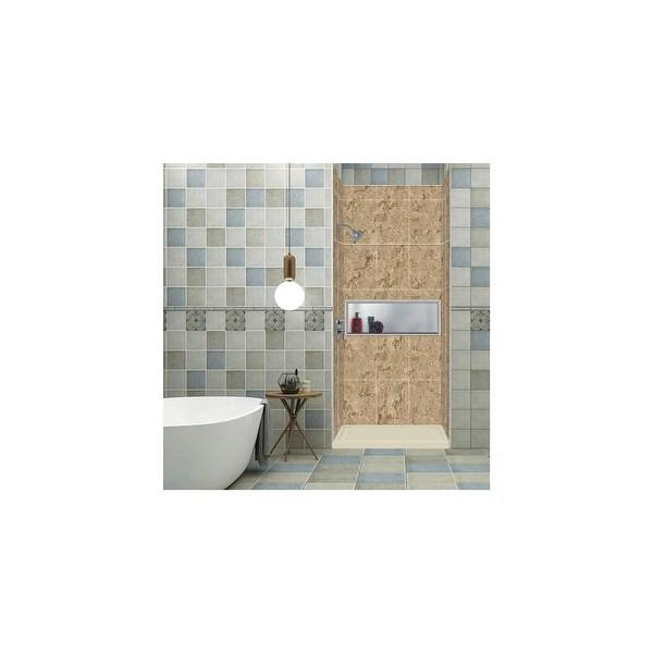 x 96 in alcove shower kit