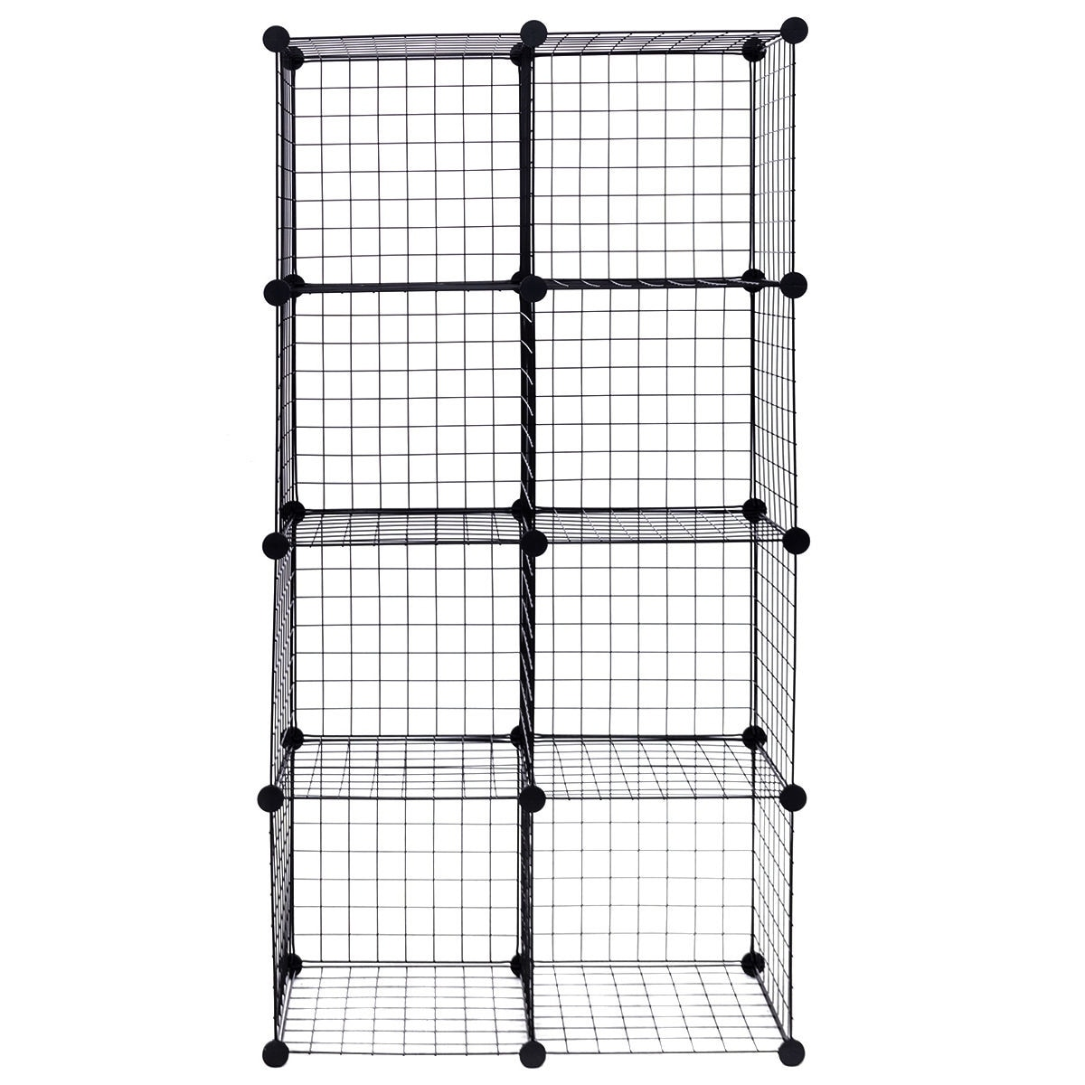 Costway 8 Cube Grid Wire Organizer Wardrobe Shelves Bookcase Diy