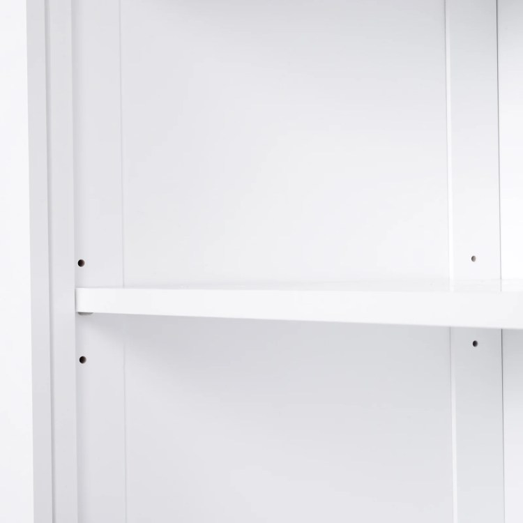 Homcom 72 Traditional Colonial Kitchen Pantry Cabinet With 2 Large Storage Areas Drawer And Adjustable Shelves White Overstock 22200563