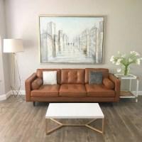 Metropolitan Leather Caramel Metro Sofa - Free Shipping ...