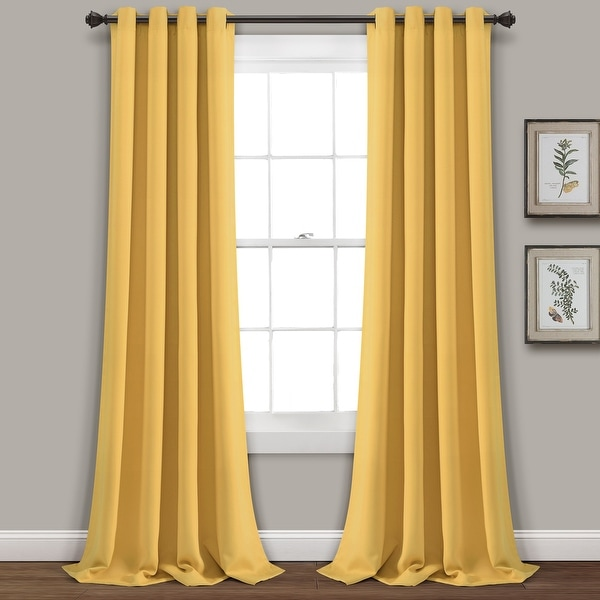 buy yellow curtains drapes online at