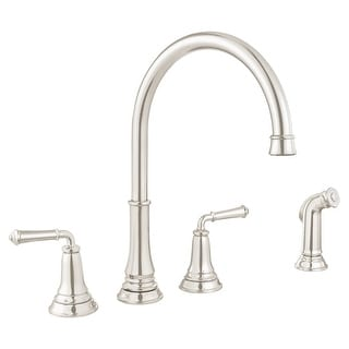 american standard kitchen faucet rv cabinets buy faucets online at overstock com our 4279 701 delancey double handle widespread includes side spray