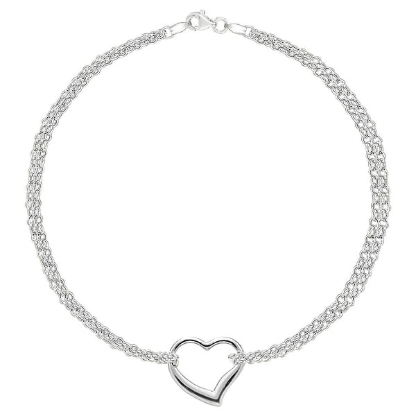 Shop MCS Jewelry Inc 14 KARAT WHITE GOLD DOUBLE STRAND