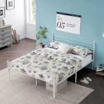 White Classic Metal Bed Frames With Simple Headboard And Footboard By Vecelo Twin Full Queen 3 Size Options On Sale Overstock 32185863 White Queen