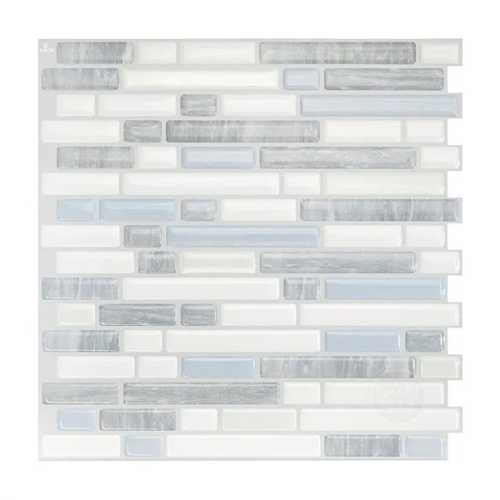 smart tiles self adhesive wall tiles bellagio costa 4 sheets of 10 06 x 10 00 kitchen and bathroom stick on tiles