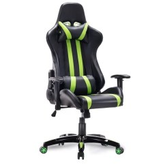 Computer Chairs For Gaming Tea Table And Shop Costway Executive Racing Style High Back Reclining Chair Office Green