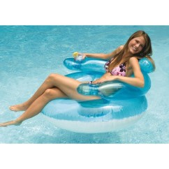 Inflatable Water Chairs For Adults Ergonomic Arm Shop 43 Sports Transparent Blue And White Swimming Pool Bubble Chair Clear Free Shipping On Orders Over 45 Overstock Com 16556759