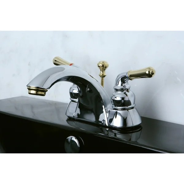 naples 4 in centerset bathroom faucet in polished chrome polished brass