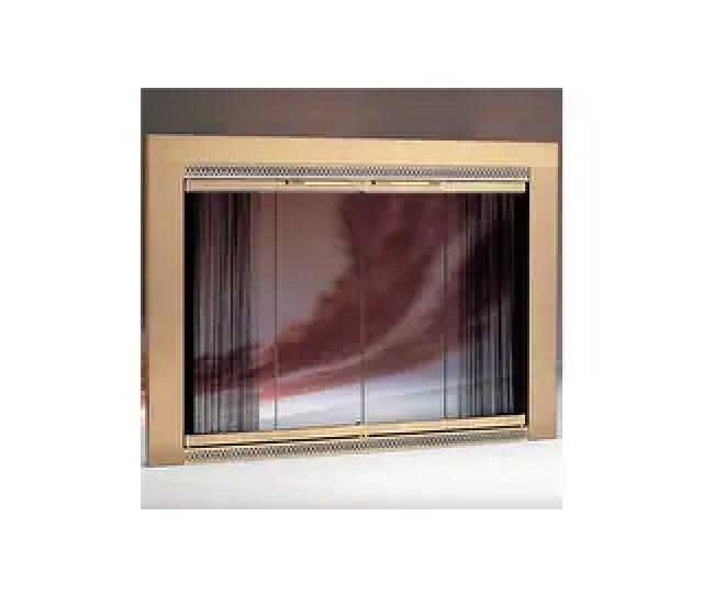 Woodfield  Wide X   High Glass Fireplace Door By Portland Willamette