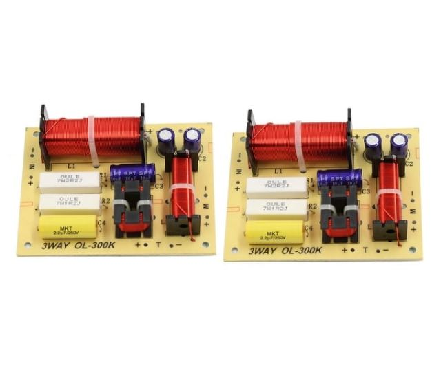 Unique Bargains 2pcs 180w Hi Fi Speaker Audio Frequency Divider 3 Way Crossover Filters 4