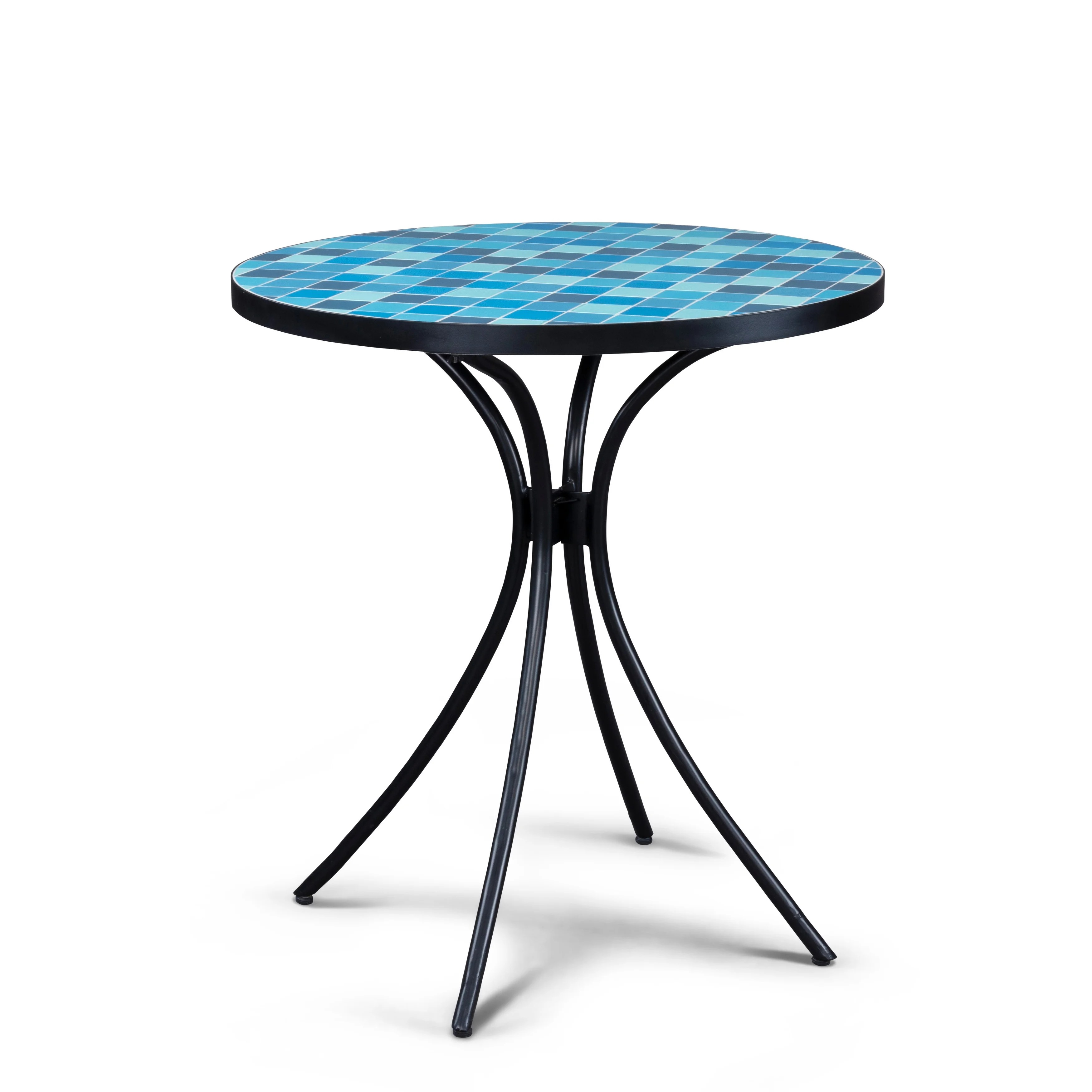 larimar outdoor blue tile top bistro table