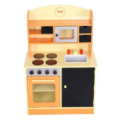 Kids Wood Kitchen Complete Cabinet Packages Shop Costway Toy Cooking Pretend Play Set Toddler Wooden Playset