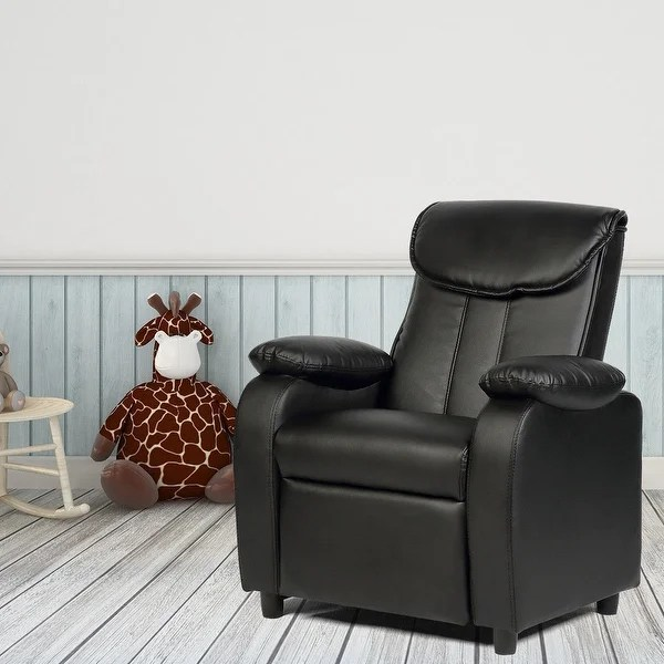 children living room furniture italian shop costway kid recliner sofa armrest chair couch home black