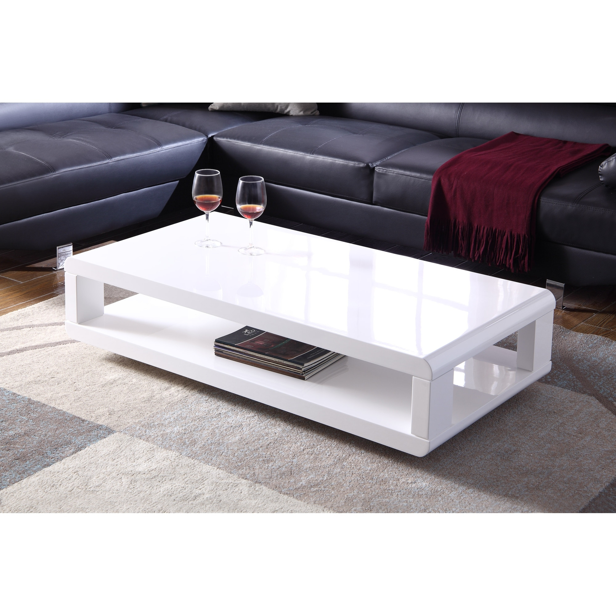 artiva casa 48 modern euro white lacquered high gloss coffee table