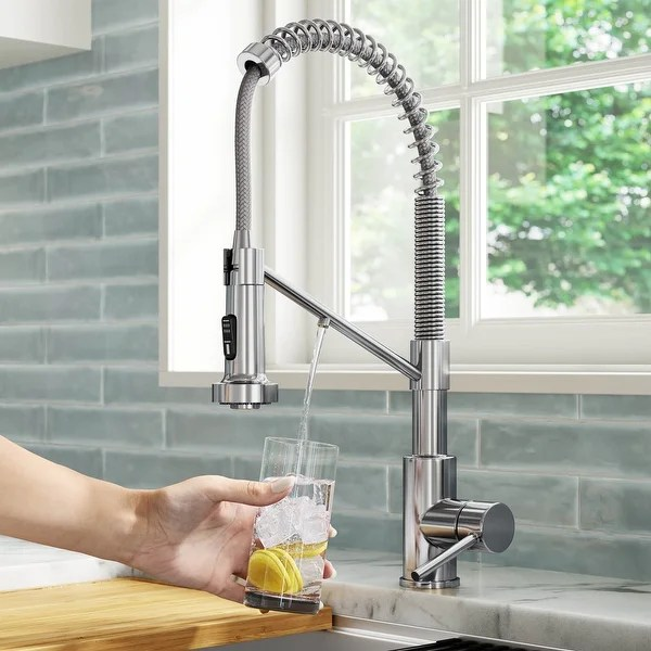 https www overstock com home garden kraus kpf 1610 bolden 1 handle 2 function sprayhead 18 inch commercial pull down kitchen faucet 17961056 product html