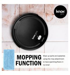 shop knox robot vacuum cleaner and mop smart anti fall sensor 90 minute run time 4 side brushes and 2x hepa filters free shipping today overstock  [ 1500 x 1500 Pixel ]
