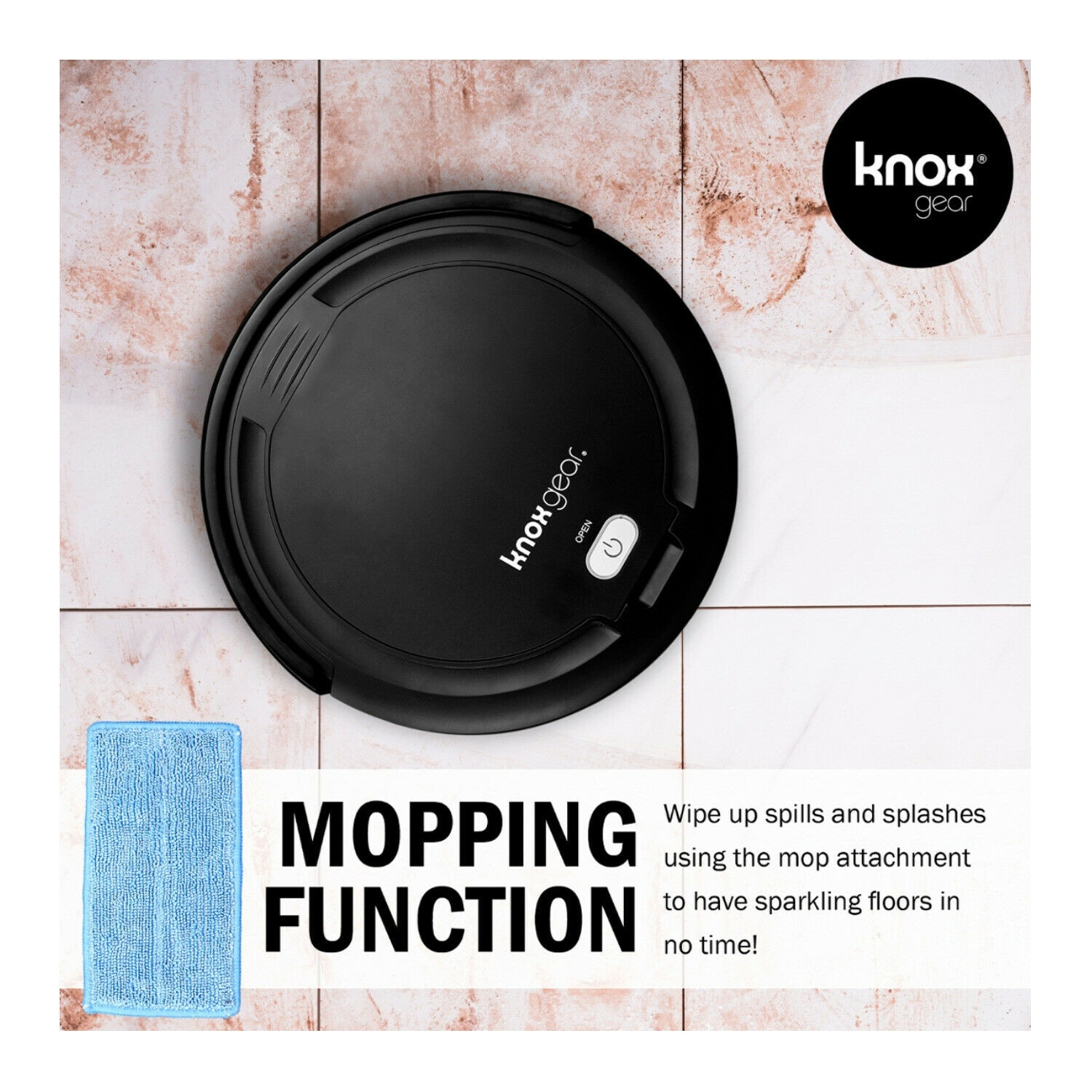 hight resolution of shop knox robot vacuum cleaner and mop smart anti fall sensor 90 minute run time 4 side brushes and 2x hepa filters free shipping today overstock