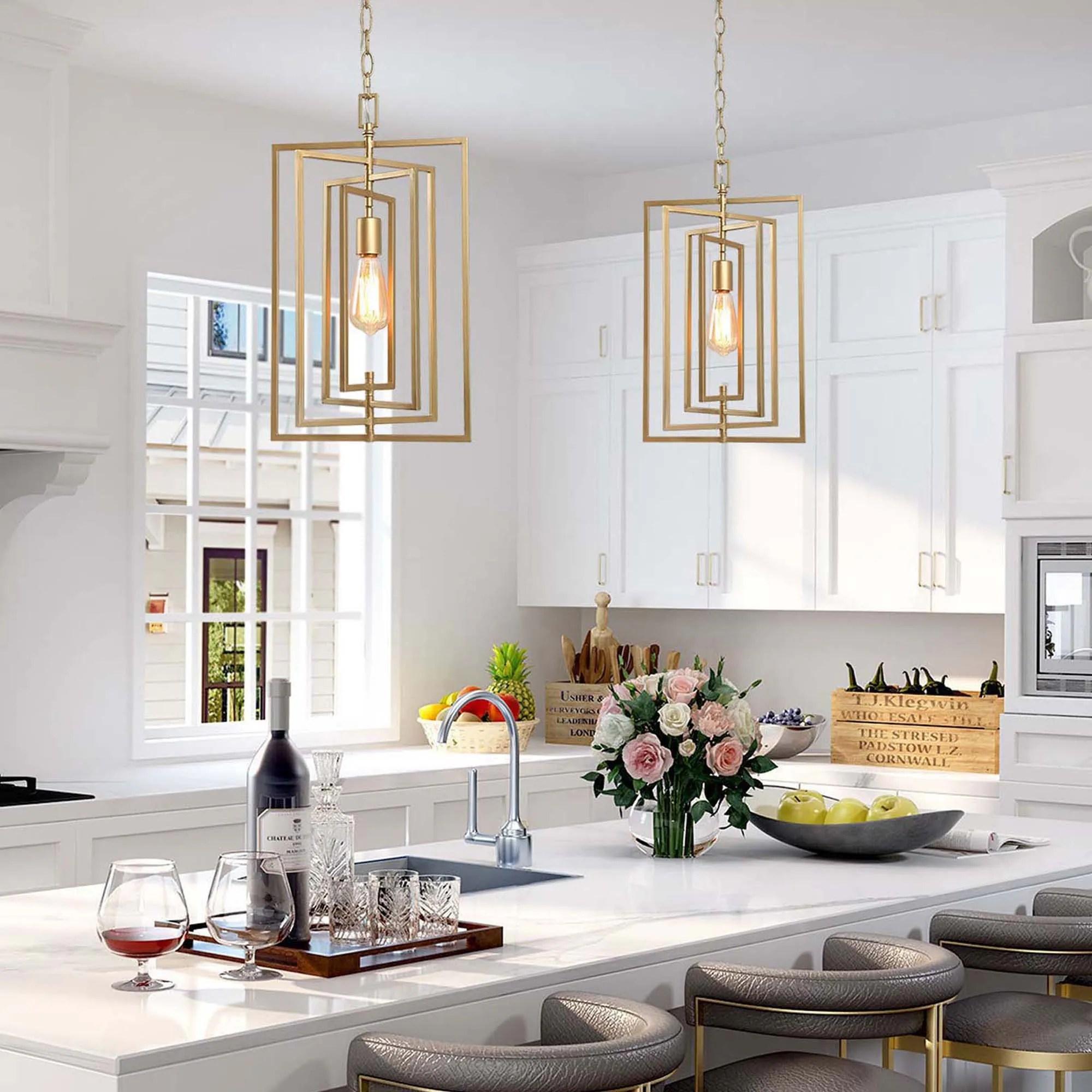 glam ceiling hanging light gold black pendant lighting for kitchen island