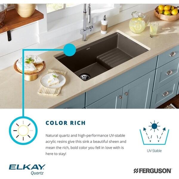 elkay elxudb3620bg0 quartz luxe 35 7 8