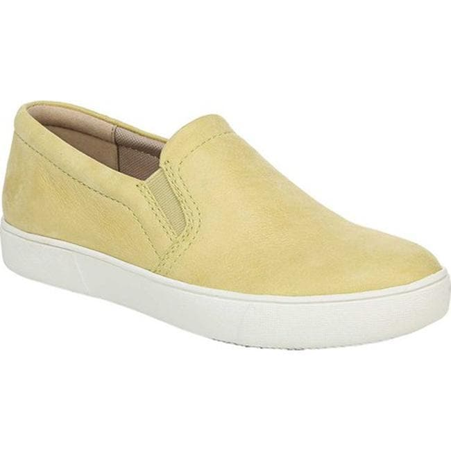 Womens Brown Leather Slip On Sneakers