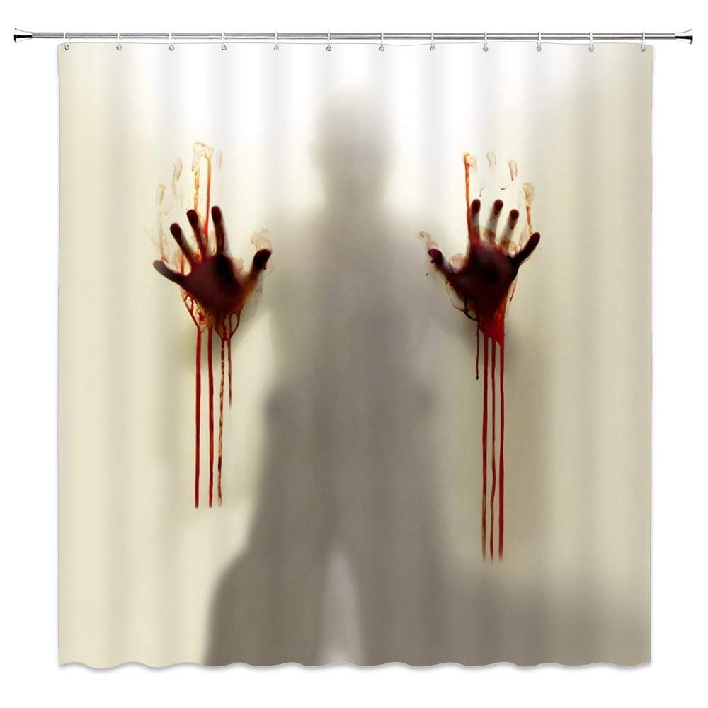 halloween shower curtain decor horror ghost