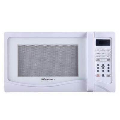 emerson mw1107w 1 1 cu ft 1000 watt touch control white microwave oven