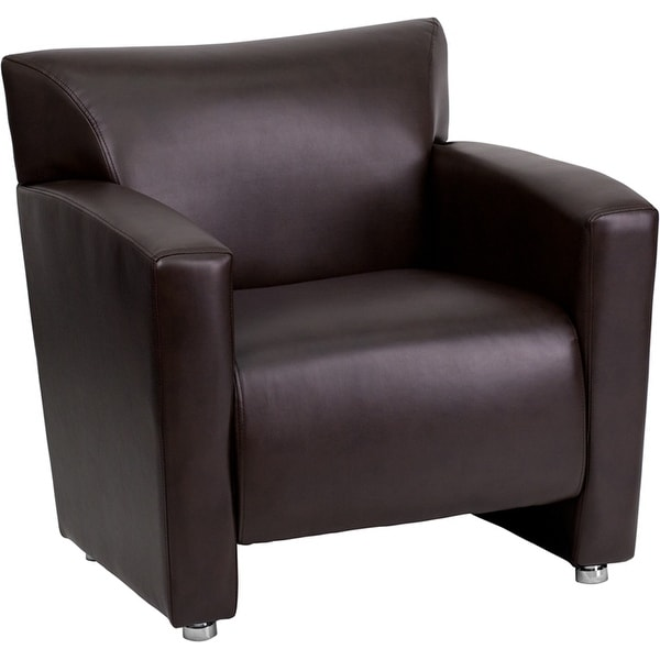 brown office guest chairs chair design wing shop monroe leather comfortable reception fl5016