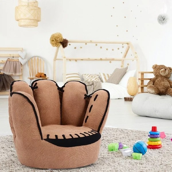 chairs for kids room your zone flip chair green glaze shop costway sofa five finger armrest couch children living toddler gift as pic