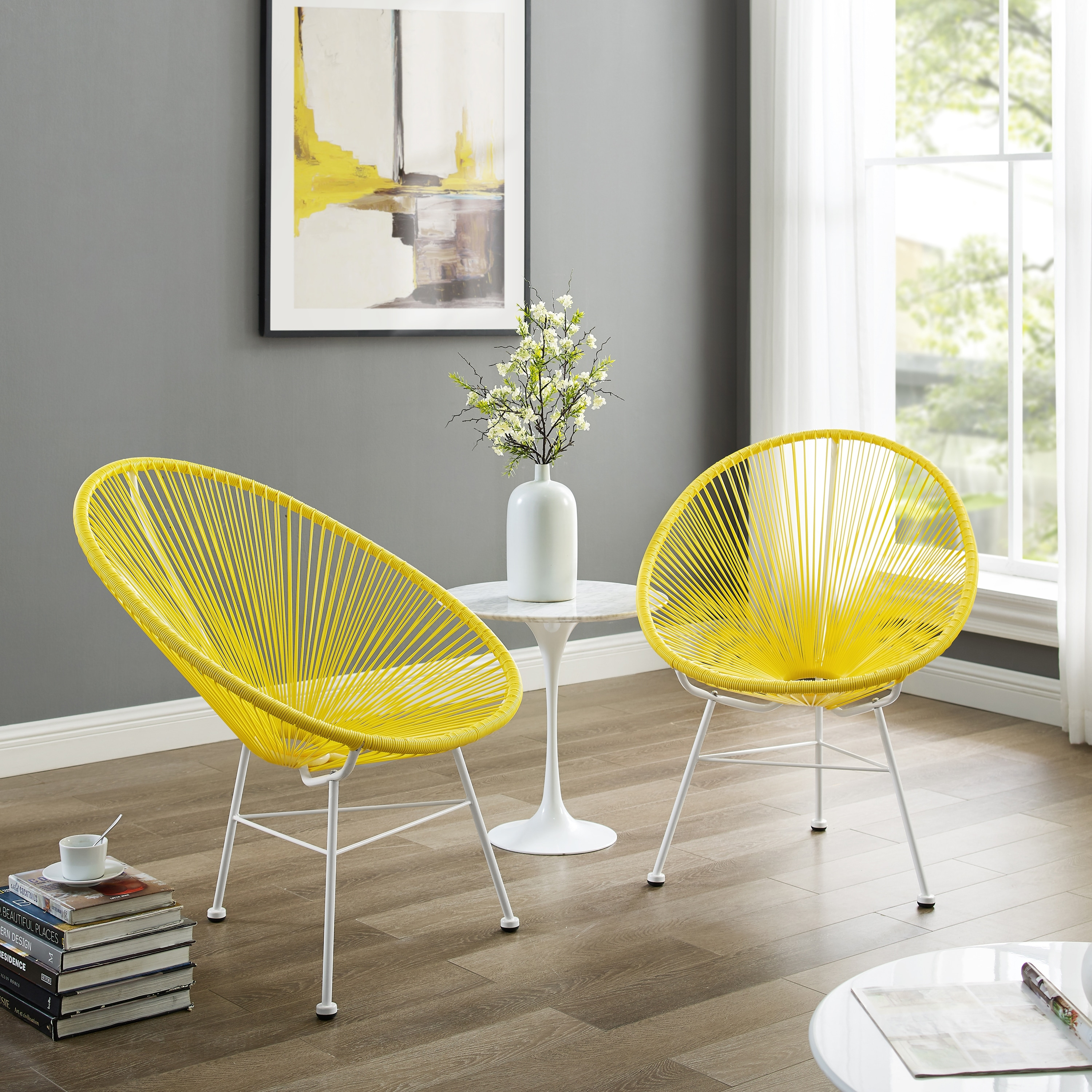 sarcelles modern wicker chairs set of 2