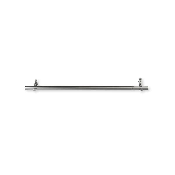 84 silver solid contemporary window curtain rod