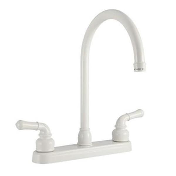 rv kitchen faucets grey island shop dura faucet d6u dfpk330hcw j spout hcw