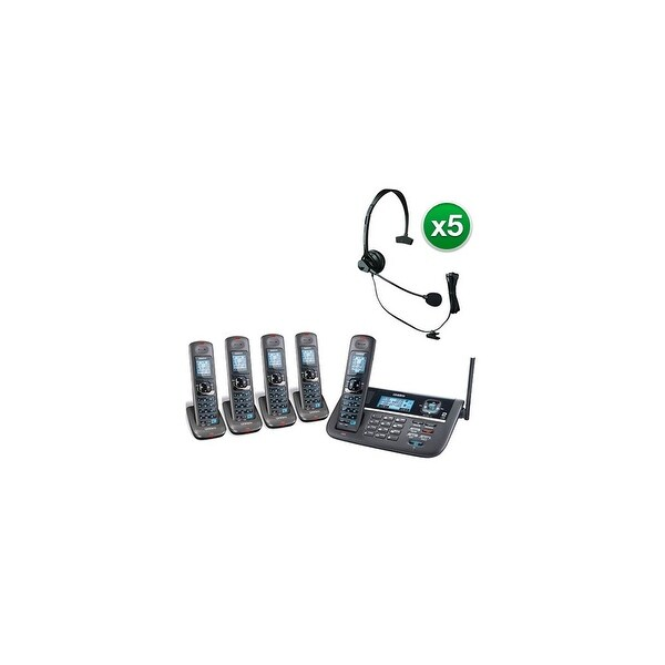 Shop Uniden DECT4086-5 with Headset DECT 6.0 2 Line