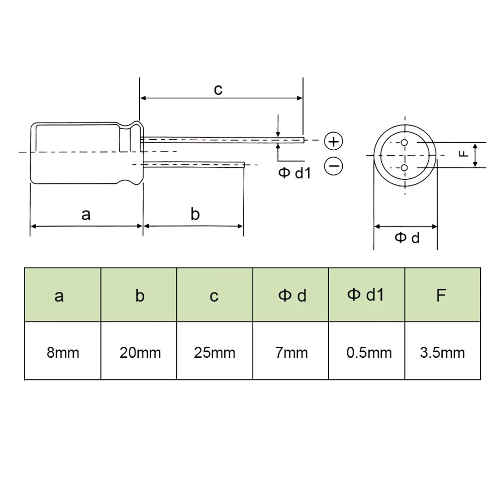 medium resolution of shop aluminum radial electrolytic capacitor low esr green 470uf 10v 8 x 7mm 20pcs 470uf 10v 8x7 20pcs on sale free shipping on orders over 45